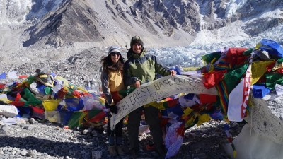 Everest Base ca mp trekking with Kalapathher