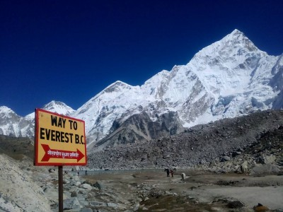 "Called as Sagarmatha ""Sky Head"" by Nepali and Chomolungma ""The Mother Goddess"" by Tibetans, Everest is the highest peak in the world with the altitude of 8848m."